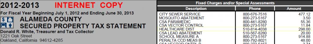 Alameda Hospital Tax