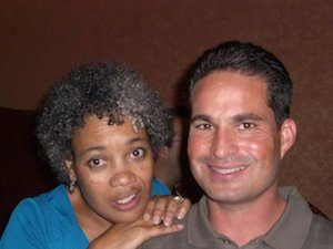 Then Mayor Elect Marie Gilmore with Alameda firefighters union president Jeff DelBono on election night, 2010, at Otaez restaurant.